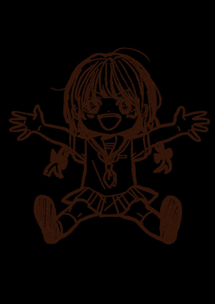 大の字花火🎇 Illust of 山田ピピちゃん Digital_Fireworks girl