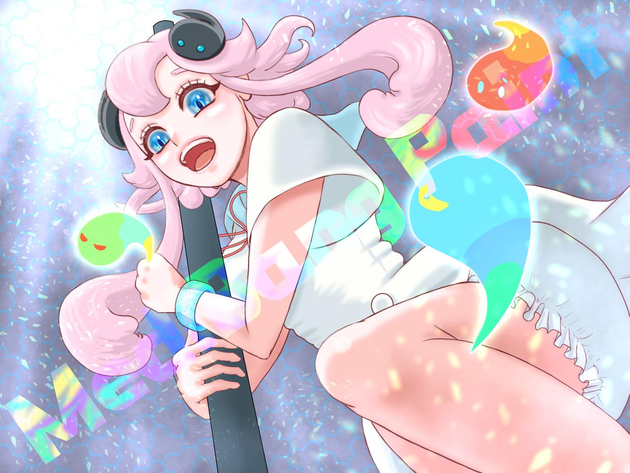 5000万ダウンロードおめでとうございます🎉🎉🎉 Illust of FJ kawaii girl medibangpaint5000 pinkhair medibangpaint メディーちゃん