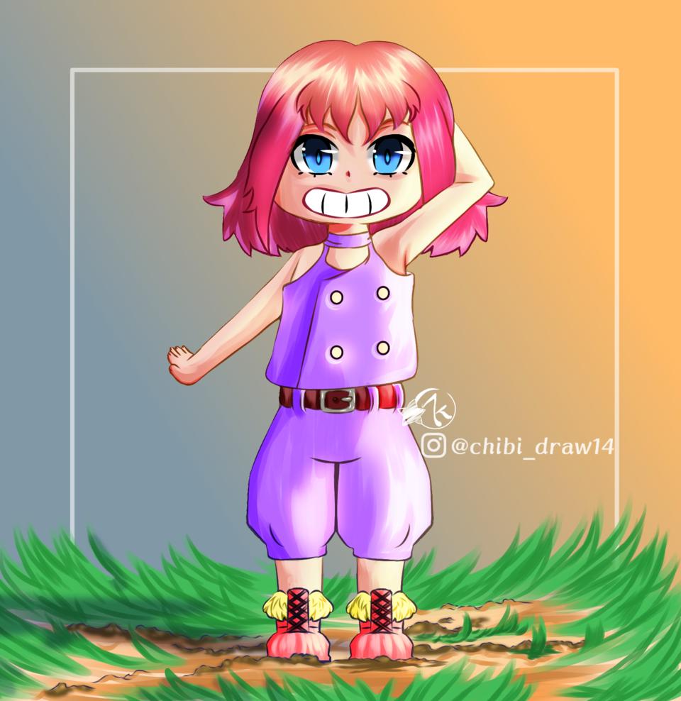Girl pink Illust of Karenhc January2021_Contest:OC anime animegirl illustration oc cute original art kawaii digital chibi