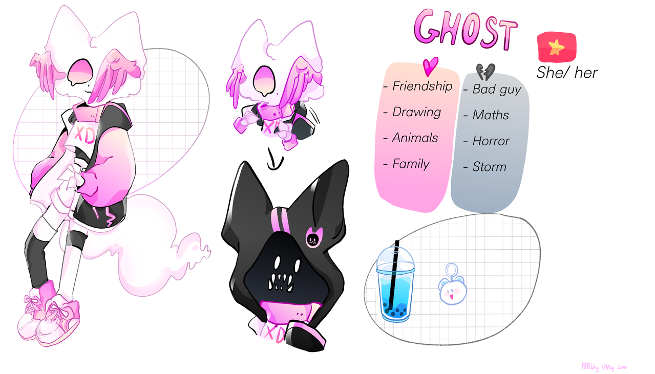 Ghost's introduction Illust of ?I'm a GHOST¿ medibangpaint