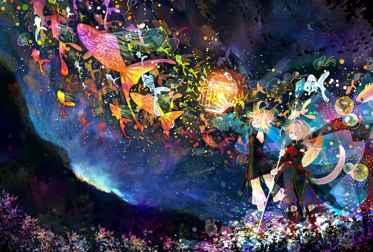 ★ Illust of 荻灯 February2021_Fantasy boy 一次創作 オリジナル創作 cat_ears
