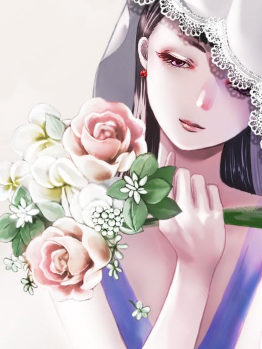 調香師 Illust of 咲楽優 medibangpaint girl flower original