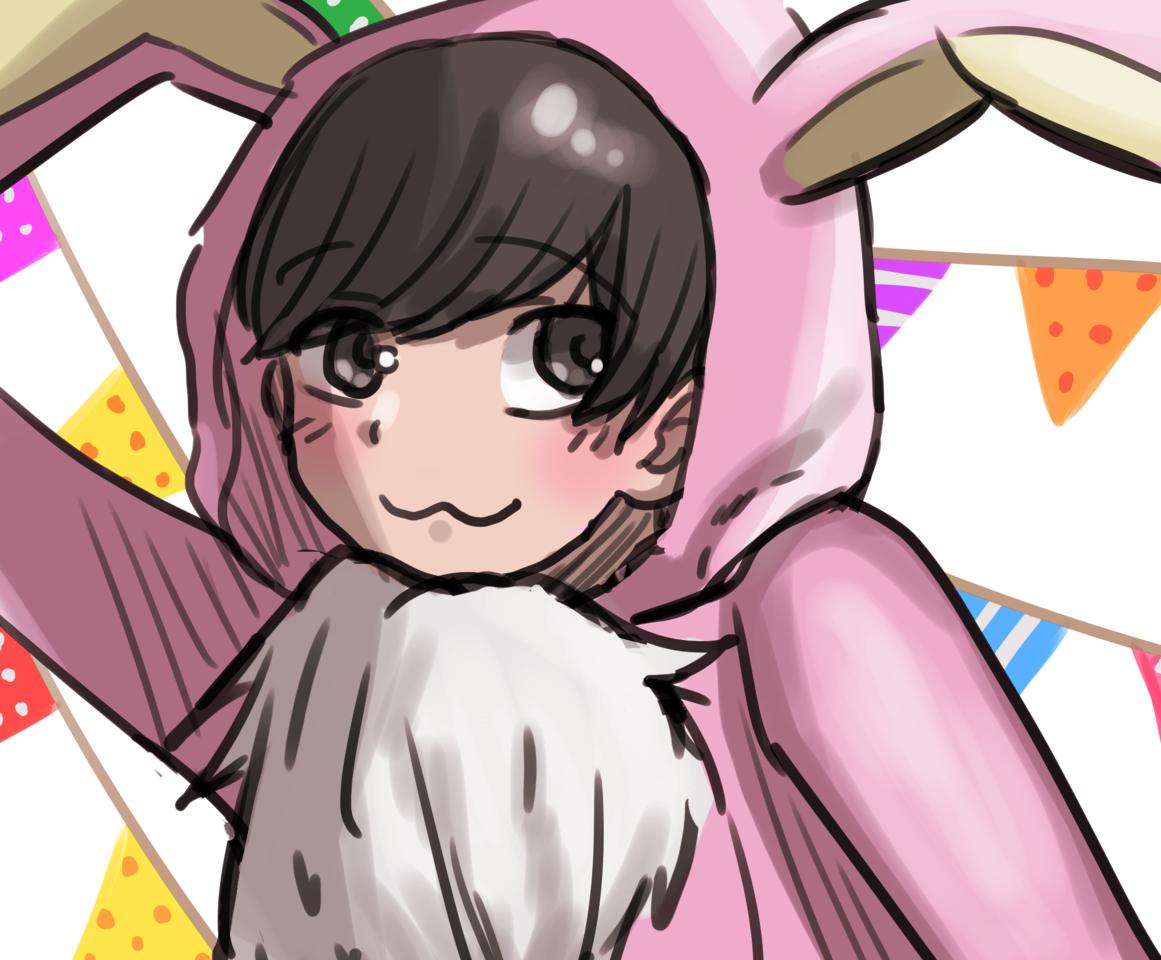 Rainbow팀 합작: 토끼 톳티 Bunny TOTTI☆ Illust of 반접 Todomatsu rabbit 톳티 bunny totty