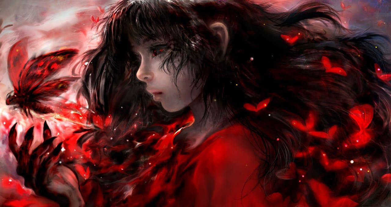 紅衣小女孩 Illust of 晴夜星子 January2021_Contest:OC February2021_Fantasy 第一屆繪王盃角色創作大賽 0.0