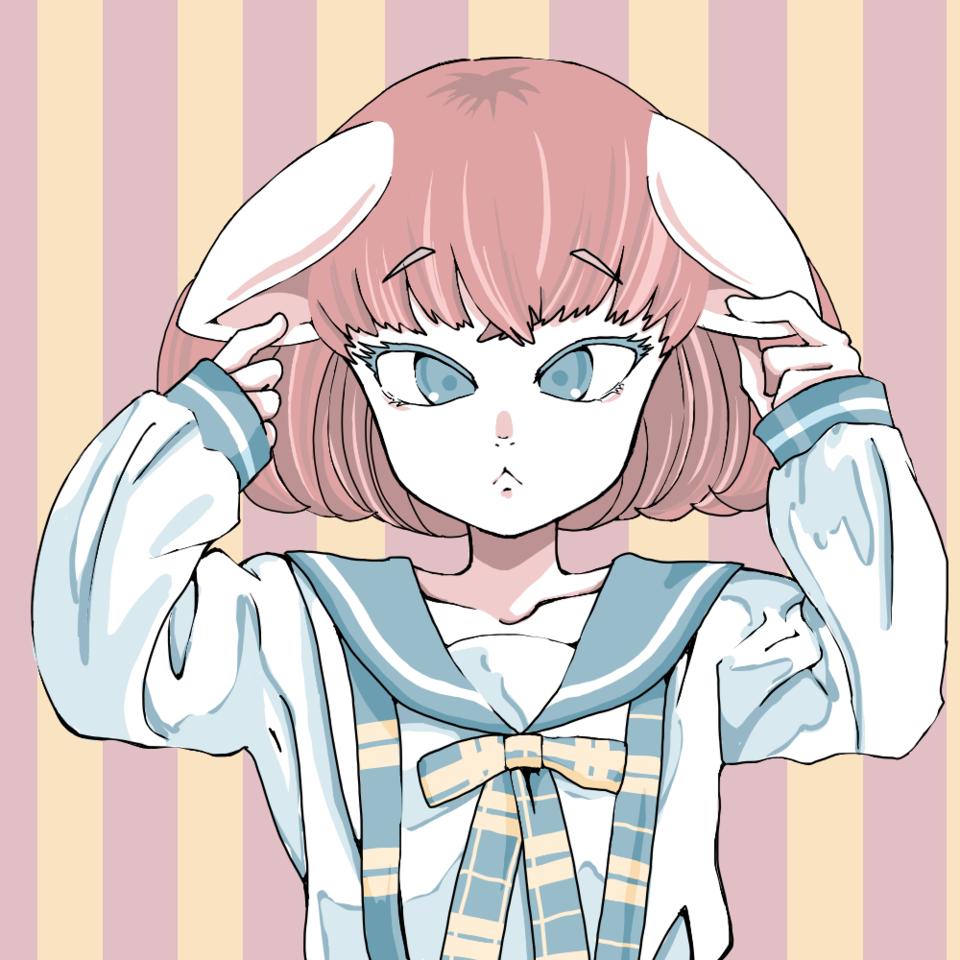 寄り目 Illust of 大森喜悦 cat_ears girl