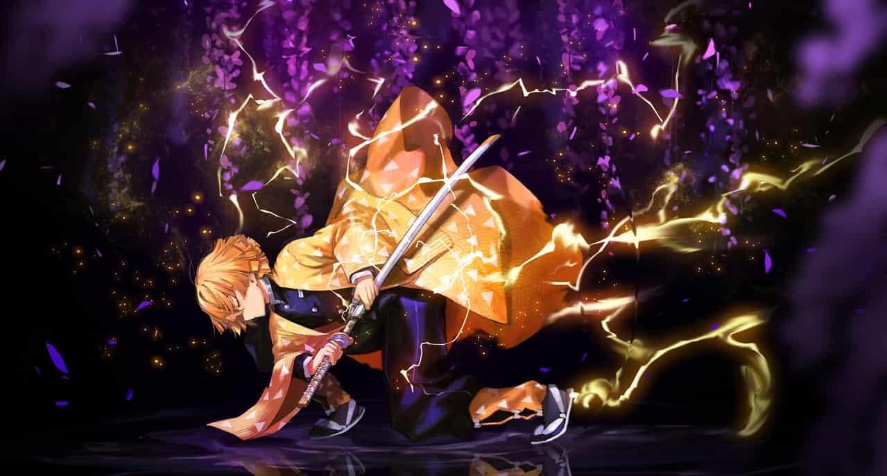 霹靂一閃 Illust of :/XUEFEI DemonSlayerFanartContest KimetsunoYaiba AgatsumaZenitsu