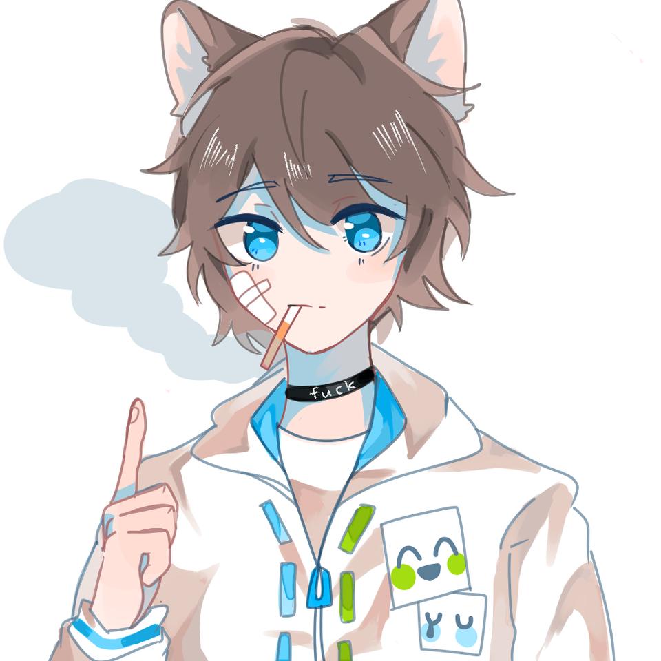 Illust of 默白 medibangpaint tobacco boy hoodie animal_ears