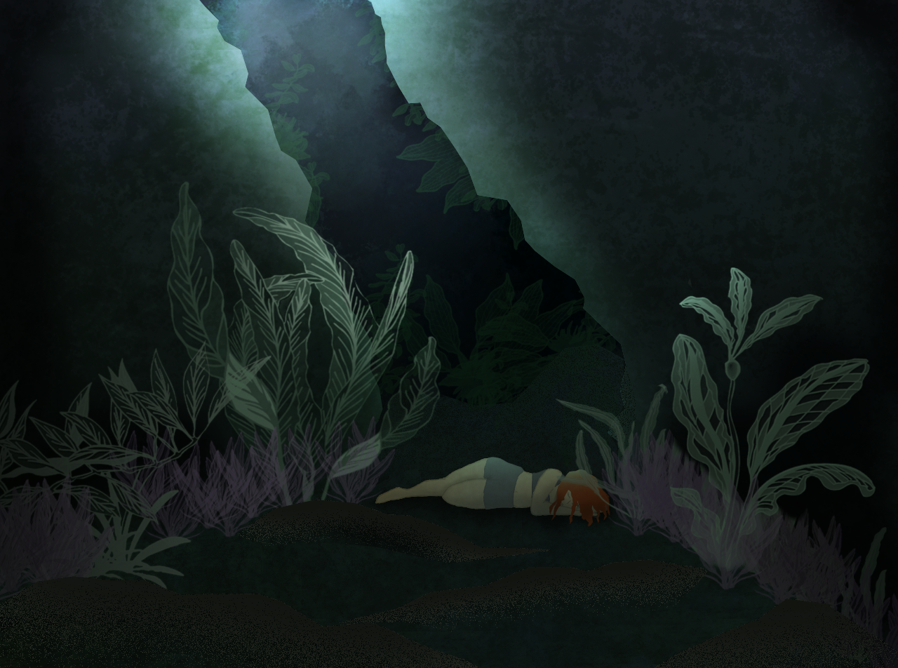 Deep and tired. Illust of Dxx. photoshop feelings Photoshop Feelings Depression femalecharacter Anxiety