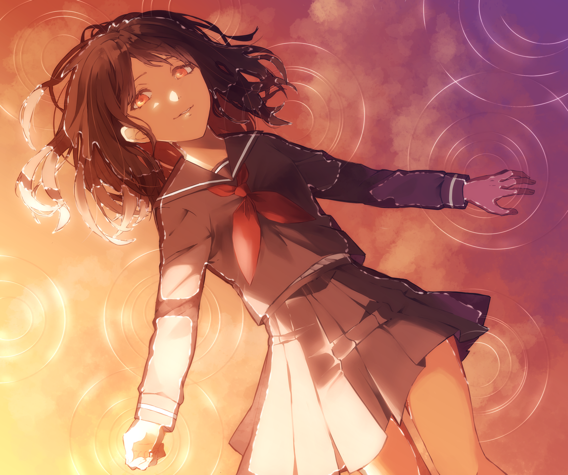 空に浮かぶ Illust of 9percent 水面 girl original