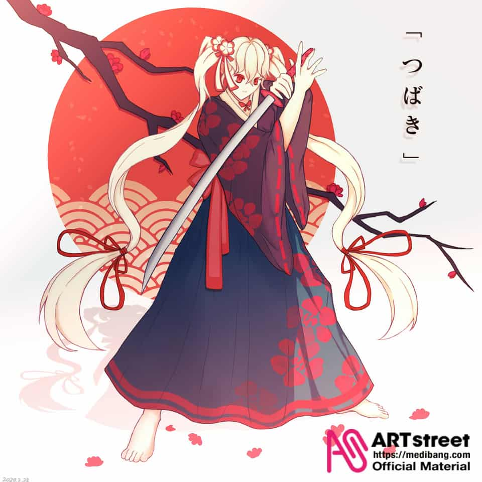 椿 Illust of 西野 貴未 tracedrawing 椿 girl flower 春 Trace&Draw【Official】