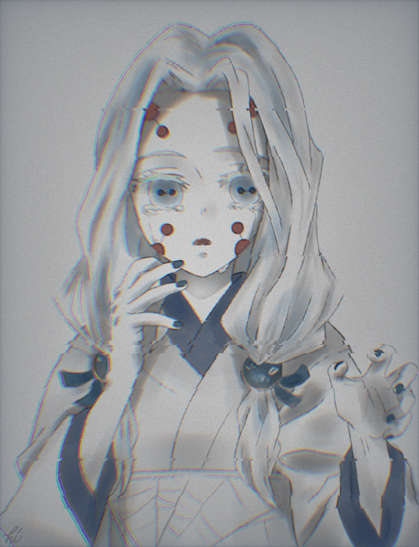 絆 Illust of ぽちわらび medibangpaint KimetsunoYaiba 累