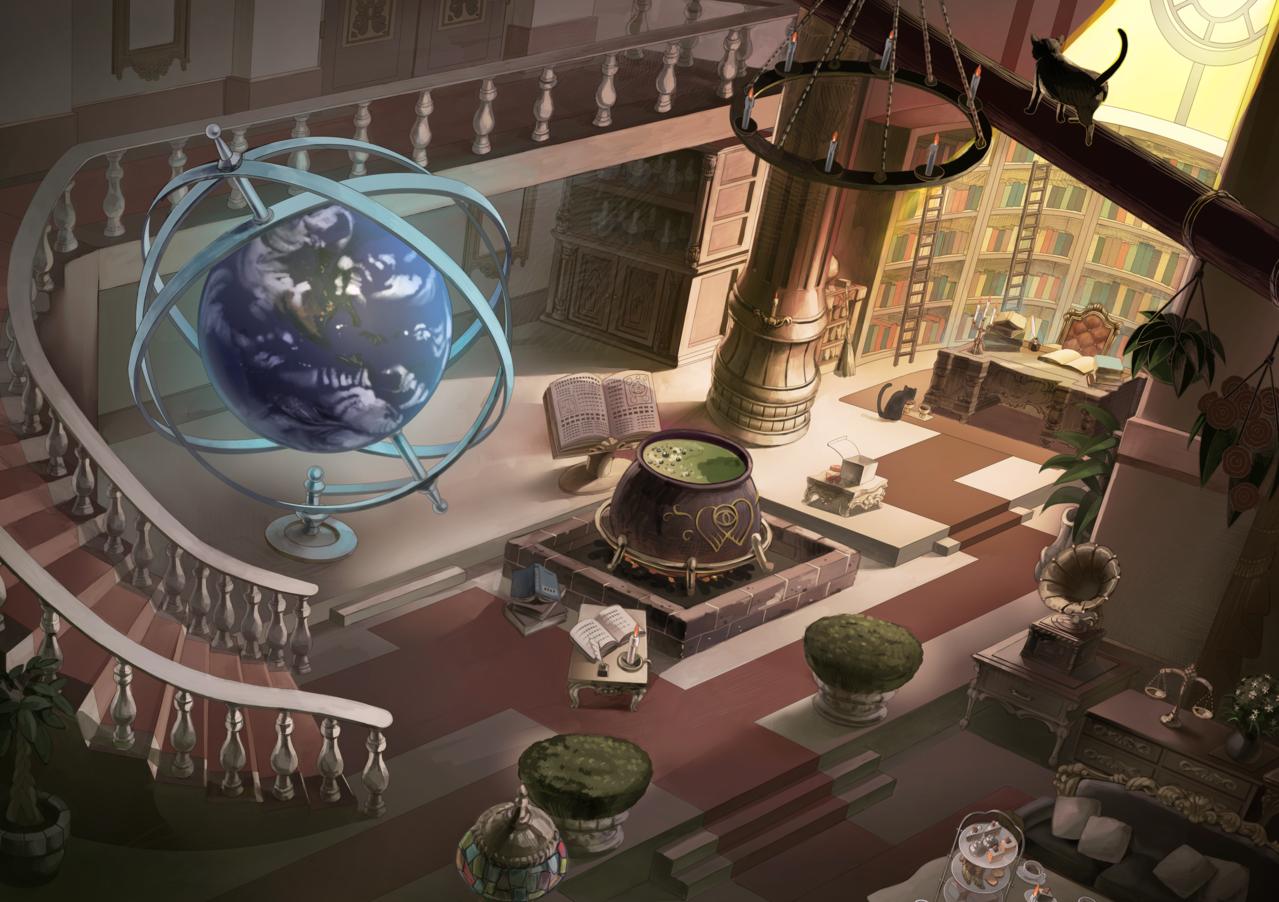 魔女の館 Illust of カイセイ fantasy background original