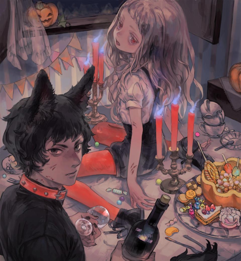 Halloween2019 Illust of 倉敷藤花 medibangpaint animal_ears Halloween