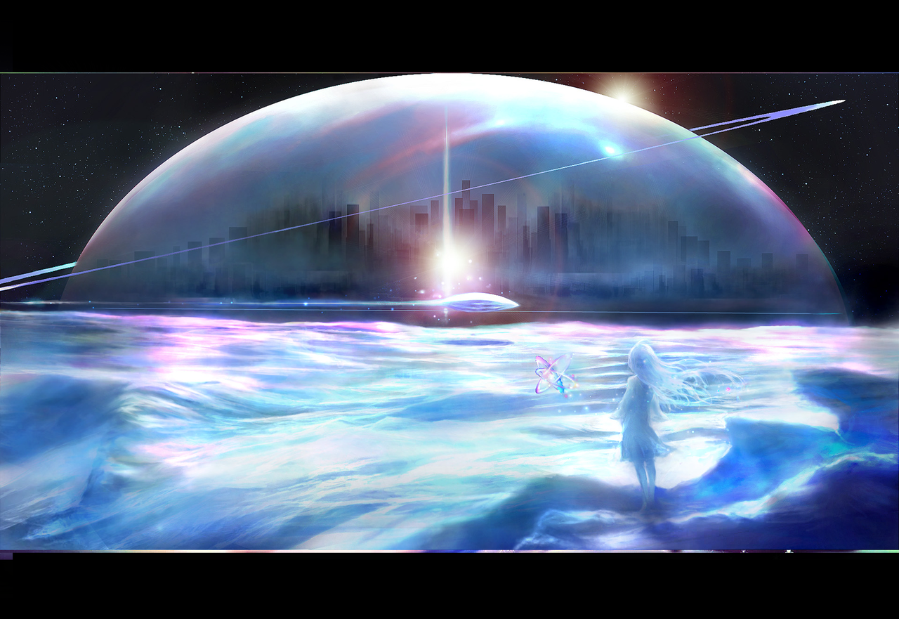 UFO少女-月球城市 Illust of 晴夜星子 ArtToPaper2017