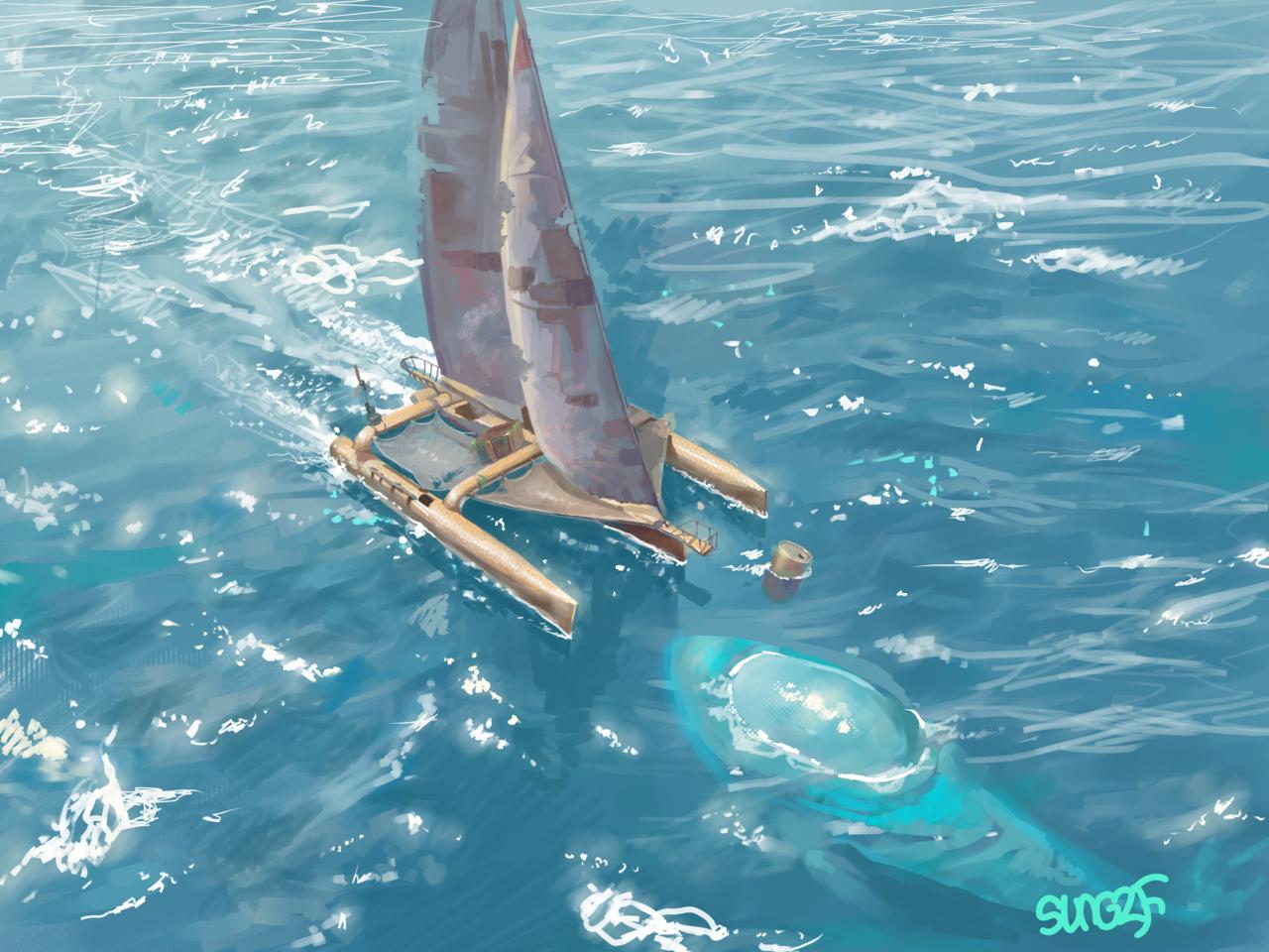 (∩ᄑ_ᄑ)⊃😐😐😐😐 Illust of SUN6ZF medibangpaint sea