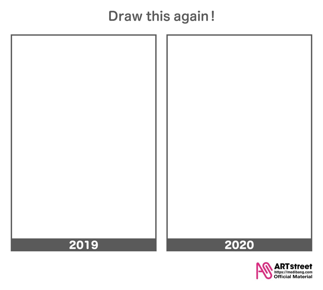Draw this again challenge(Vertical Template ) Illust of ART street DrawThisAgain