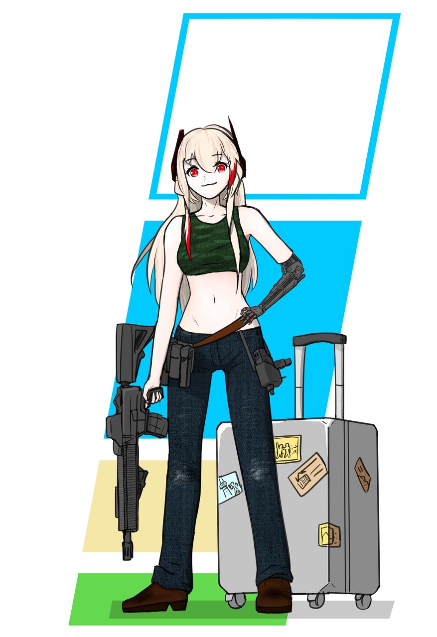 여행가는 솦모챠 Illust of 솦모챠 medibangpaint Sopmod2 M4sopmod2 솦모챠 Girls'Frontline 소프모드
