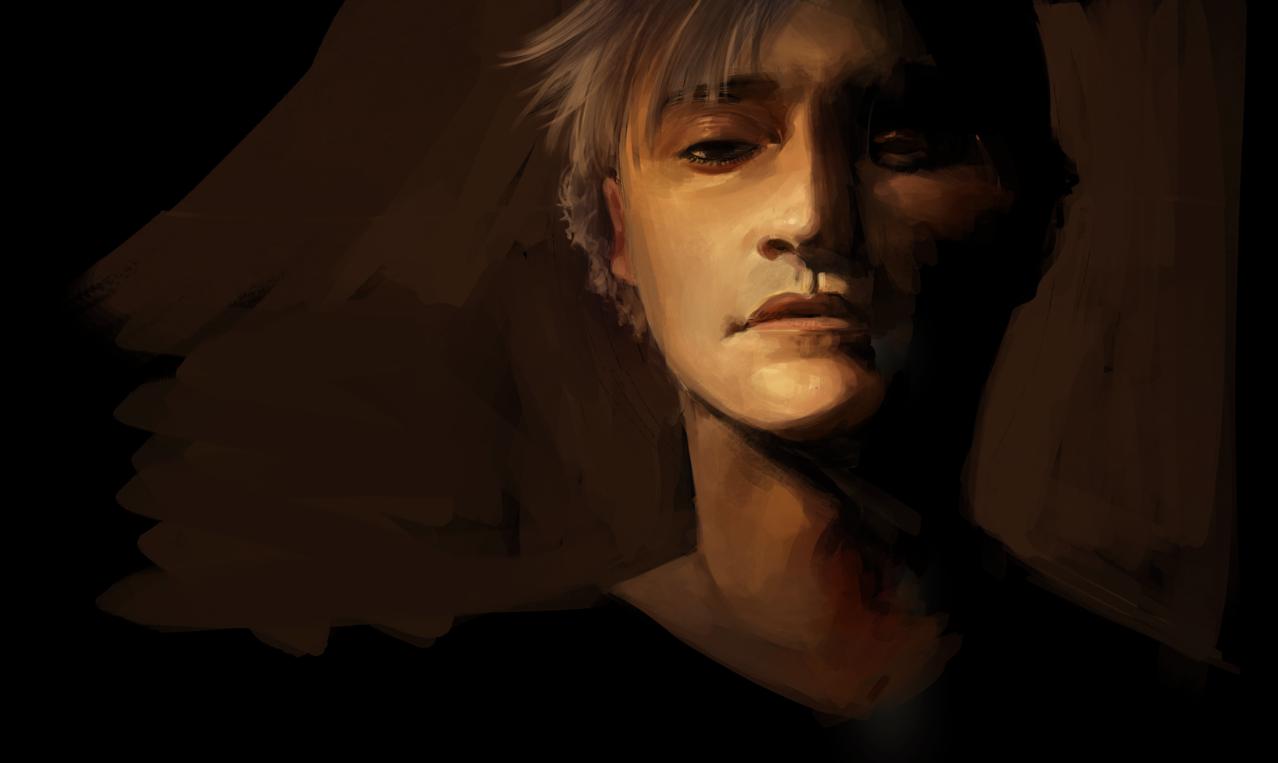 blowup7 Illust of Pai sad painting lighting boy