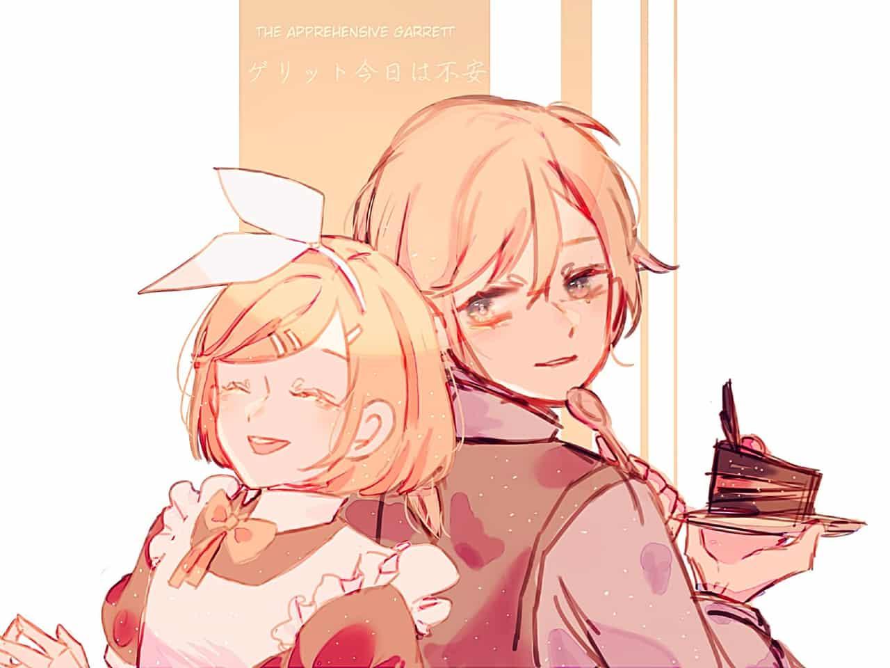 リン・レン Illust of dirottle VOCALOID KagamineRin/Len maid cake Rin medibangpaint Kagamine_Rin 鏡音リン・レン len KagamineLen