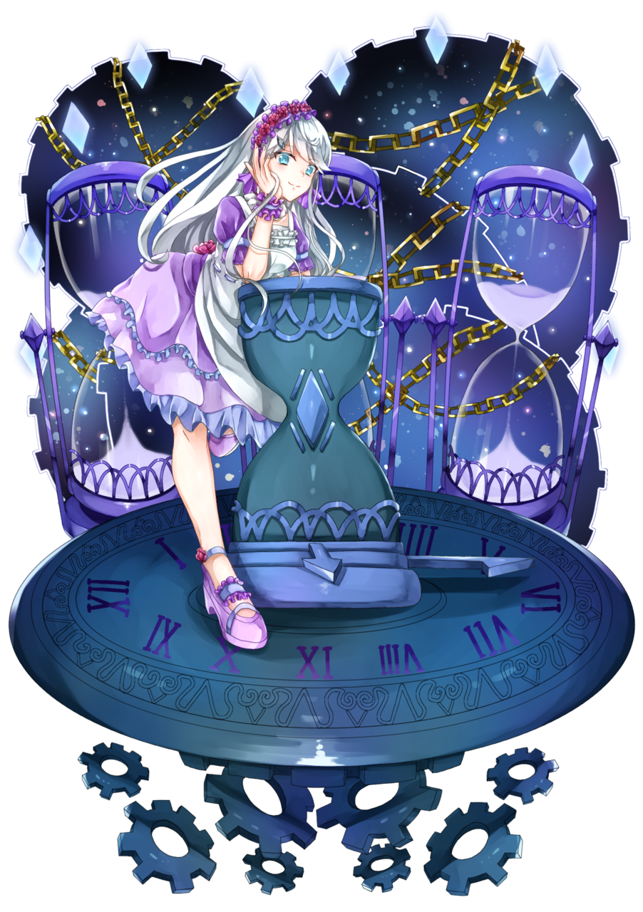 時の異空間 Illust of 甘音 ロリータ girl purple 銀髪 original ヴィネット 時計