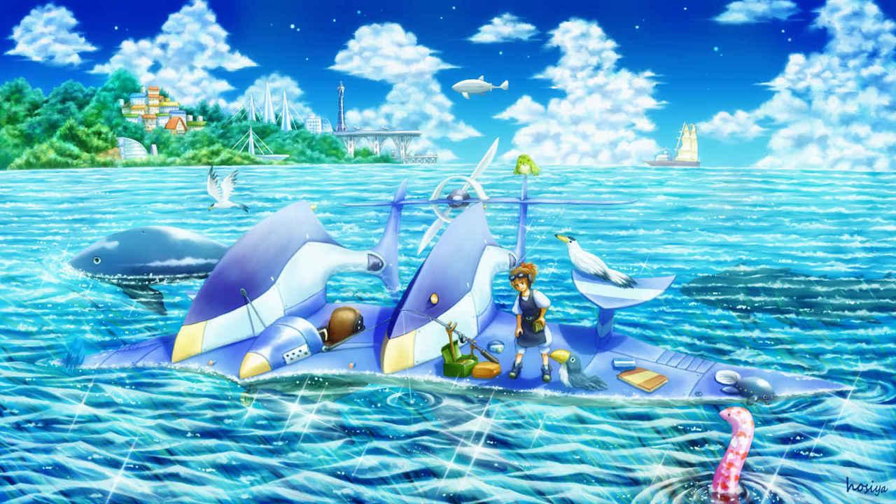 陽射し満ちる海