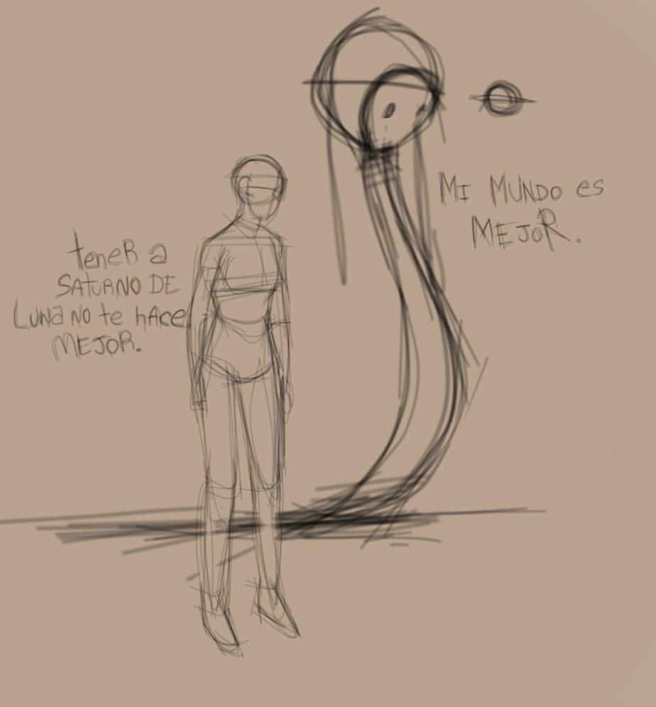 draw viejo porque no tengo imaginación Illust of La chancleta del tío medibangpaint