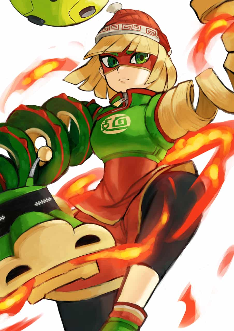 Min Min Illust of nuxonite Nintendo ARMS