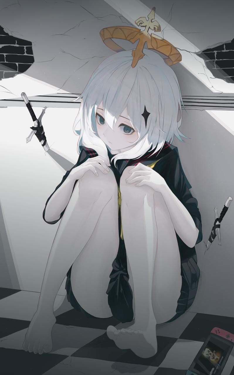 η Illust of SOUZE medibangpaint girl 派蒙 GenshinImpact schooluniform original 冷艳 女高中生
