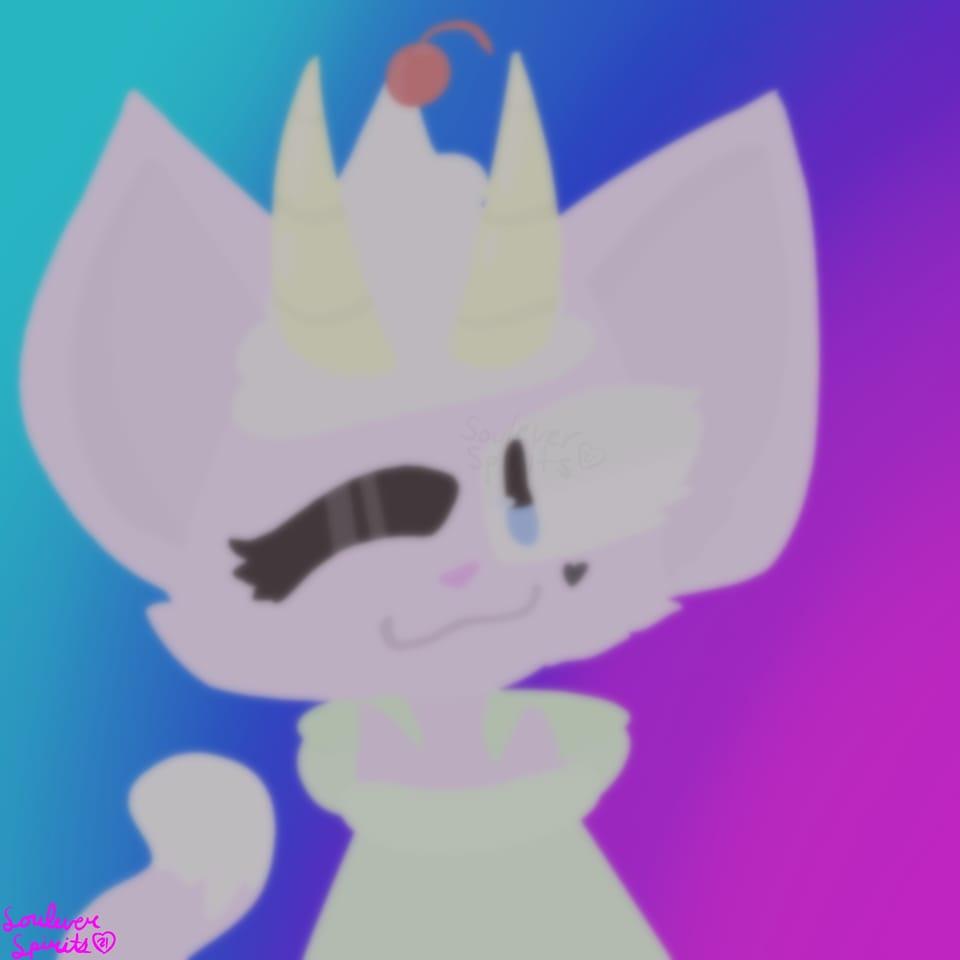 :) (Tw: Danganronpa blood)  Illust of 🌟 𝚂𝚘𝚞𝚕 💫 Kat furry blood