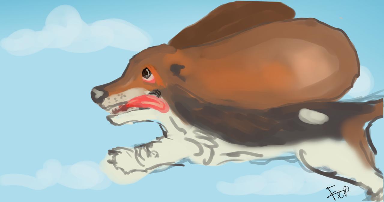 dumbo hound Illust of catsoul medibangpaint 1hDrawingChallenge