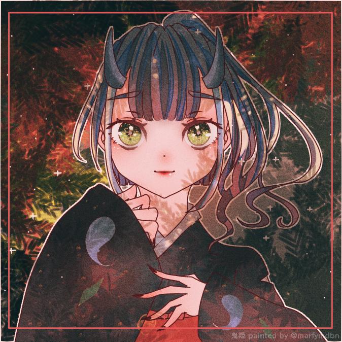 鬼姫さんの代理さん Illust of Marfy girl Japanese_style 鬼姫 きらきら 鬼 kimono 代理 kawaii