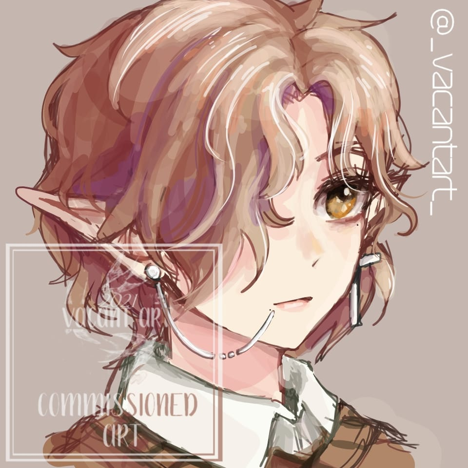 Elf Illust of VacantArt fantasy anime commissionsopen digital elf sketch commission cute