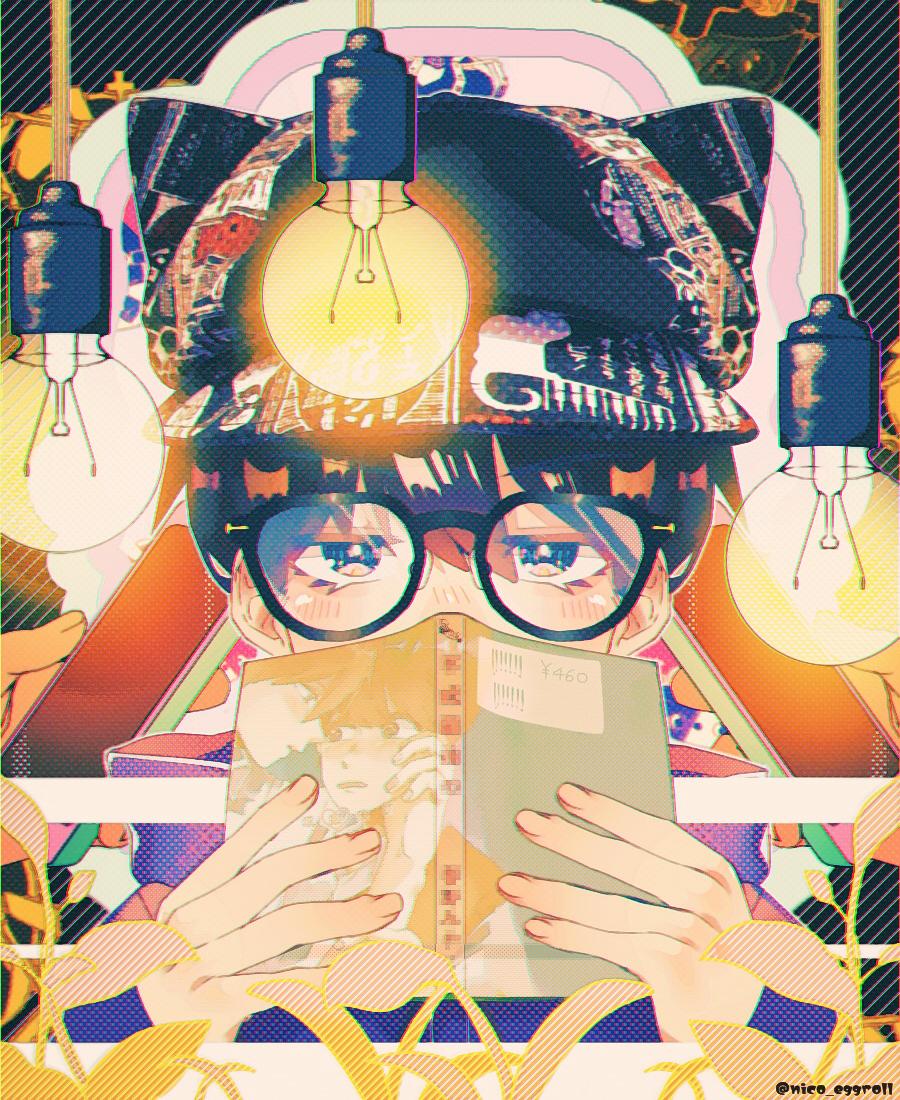 𝗠𝗲 Illust of eggroll☆ original glasses boy illustration ibispaint