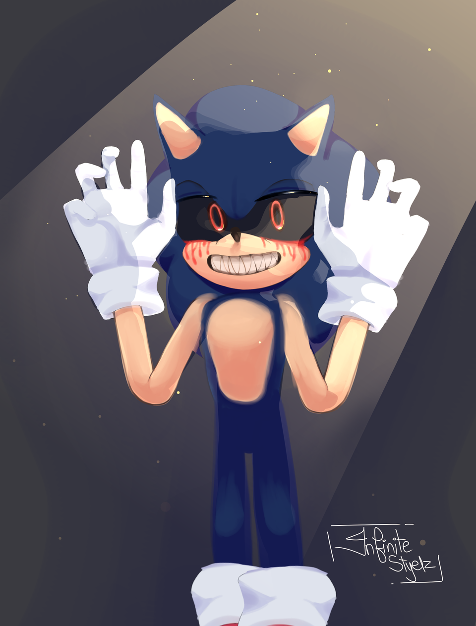 if you make this the most liked thing on medi... Illust of Infinite stylez medibangpaint sonicexe wtfisthattag.. smexy Sonic darkbaby infinitestylez
