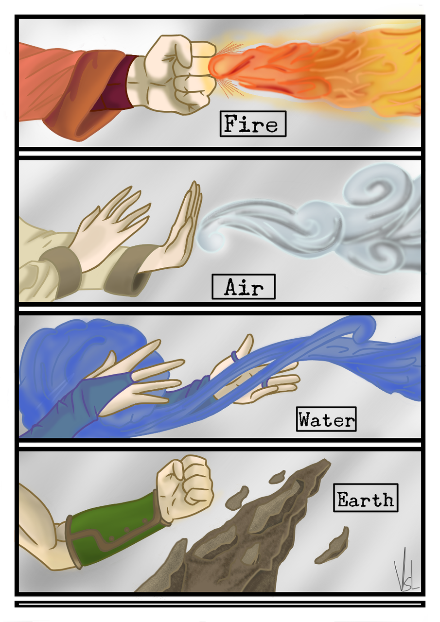 Avatar Fire Air Water Earth  Illust of ViselArts medibangpaint