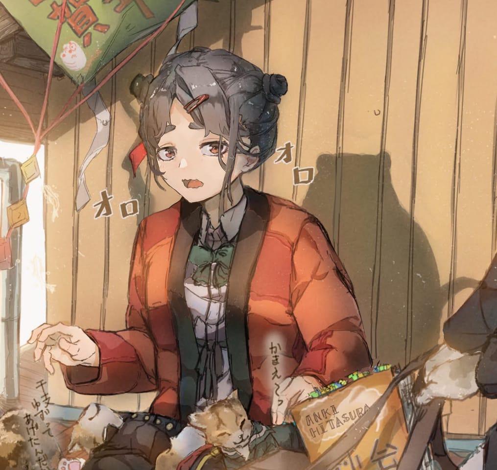 冬のぽかぽか Illust of さかしょうどん oc cat girl