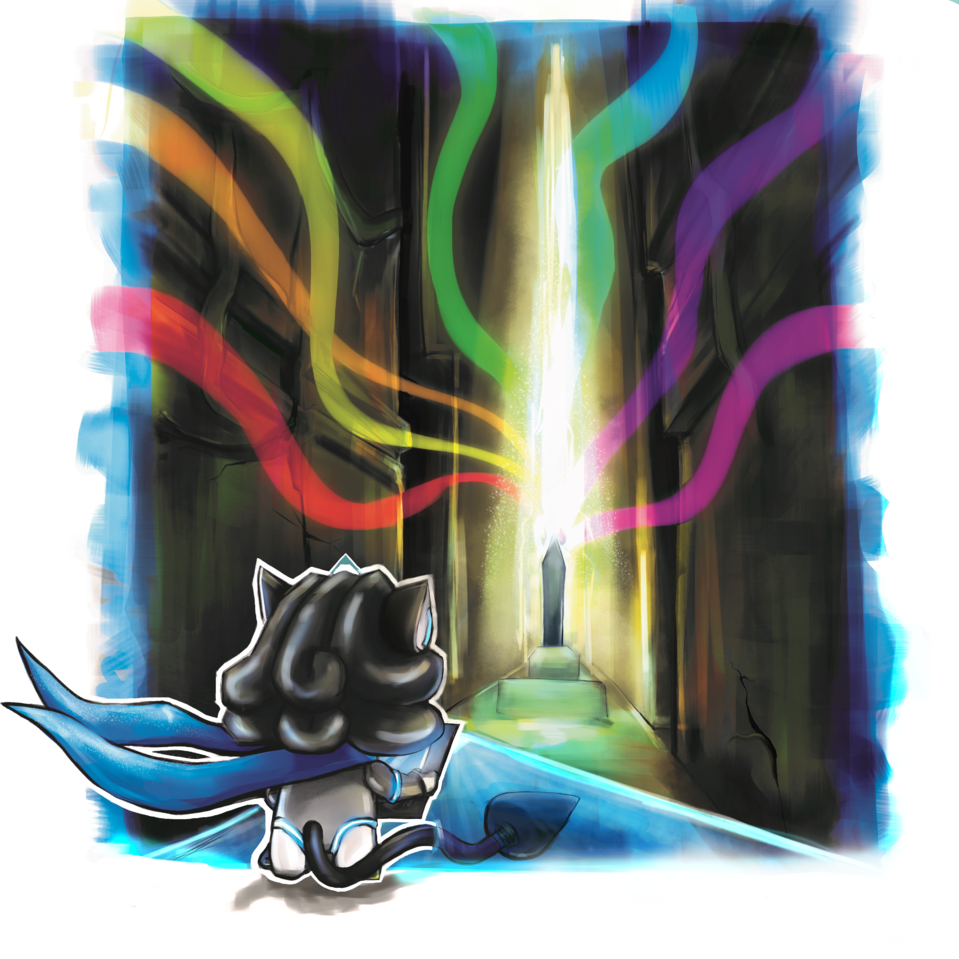 LEON AND THE PORTAL TOWARDS A BRIGHT FUTURE Illust of Sharlaine.@rts fantasy adventure HuionDesign medibangpaint digitalillustration digitaldrawing digital scenery digitalpainting background