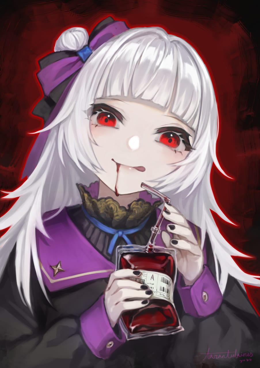 臉書粉專點圖 Illust of Tarantulaines Post_Multiple_Images_Contest 蘿莉 vampire muscle 獸人 white_hair