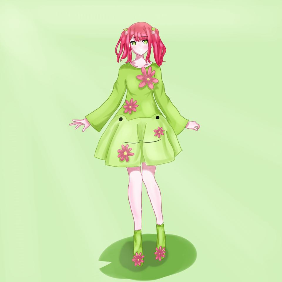 froggy! (Read desc) Illust of ☆°•chloe•°☆ medibangpaint anime animeart animegirl cute Frog cutegirl