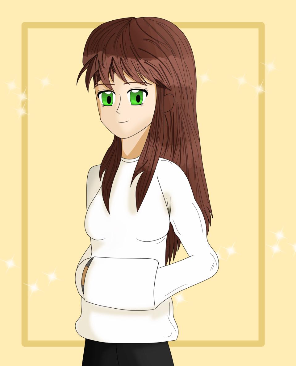 Girl - By Drew Illust of ♦𝔻𝕣𝕖𝕨_𝔸𝕣𝕥𝕤♦ anime girl Drew_Arts brownhair character illustration chica oc