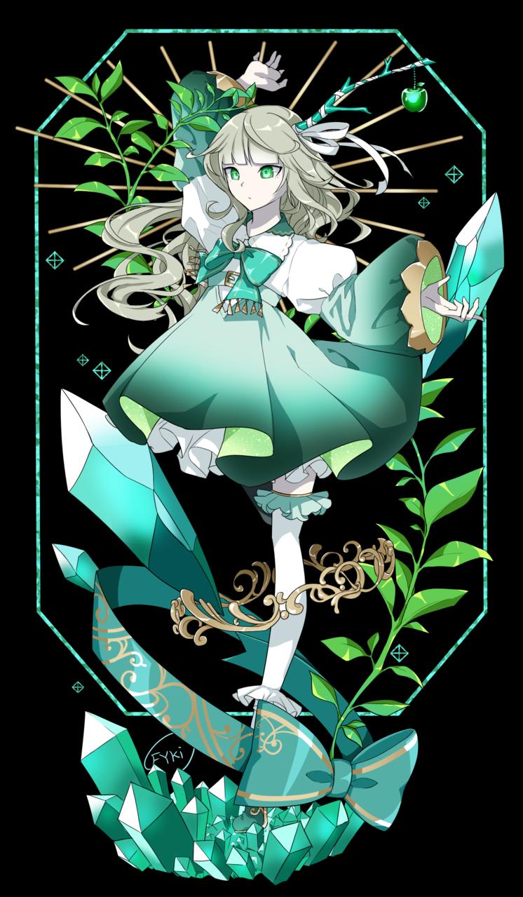 エメラルド擬人化 Illust of フ雪 medibangpaint Personification oc original