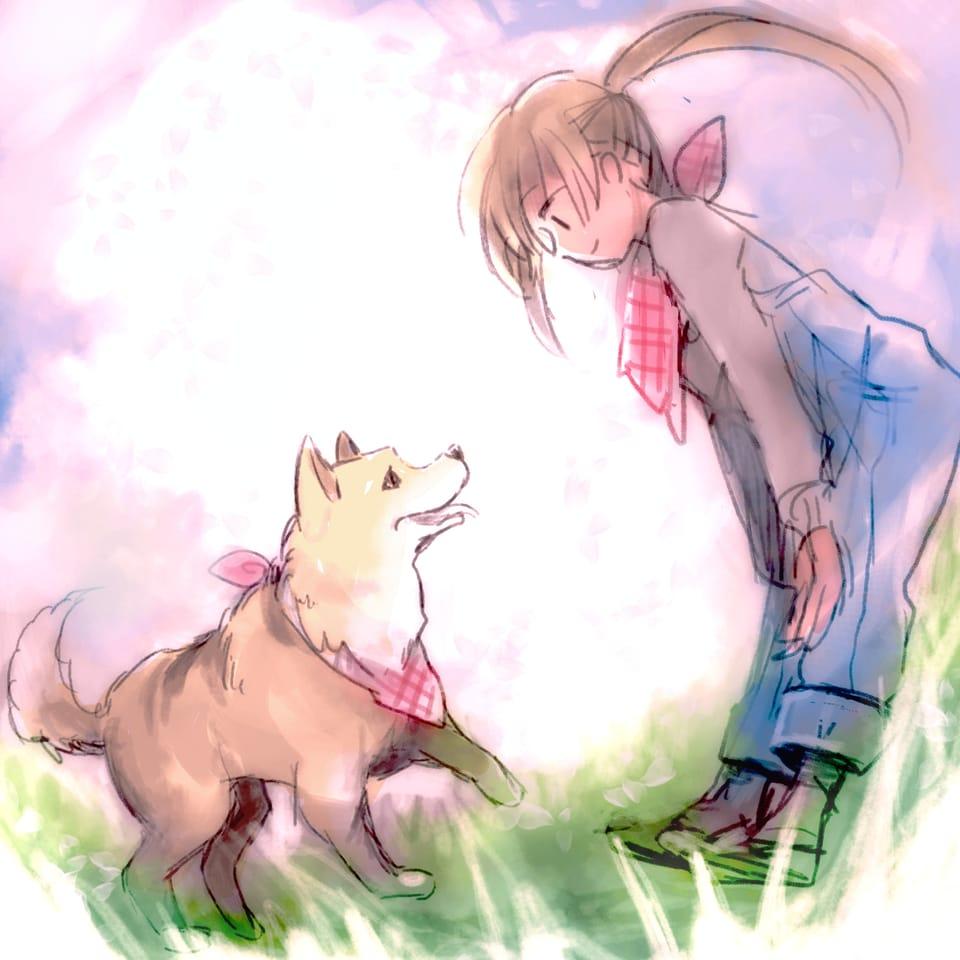 犬と女の子 Illust of ささら レッツワンドロ MediBangPaintPro girl dog