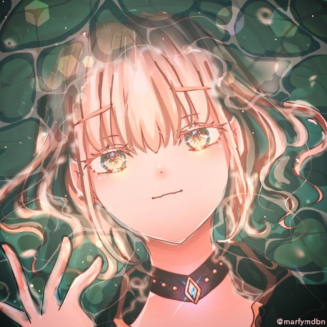 Sinking but Floating Illust of Marfy 宝石 メルヘン water blonde girl きらきら kawaii