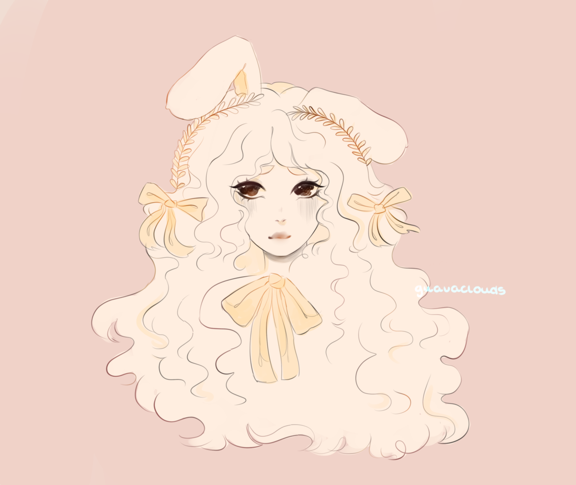 another quick drawing from today :) Illust of h o ɳ e y d e w ☻︎ bow girl aesthetic bunny