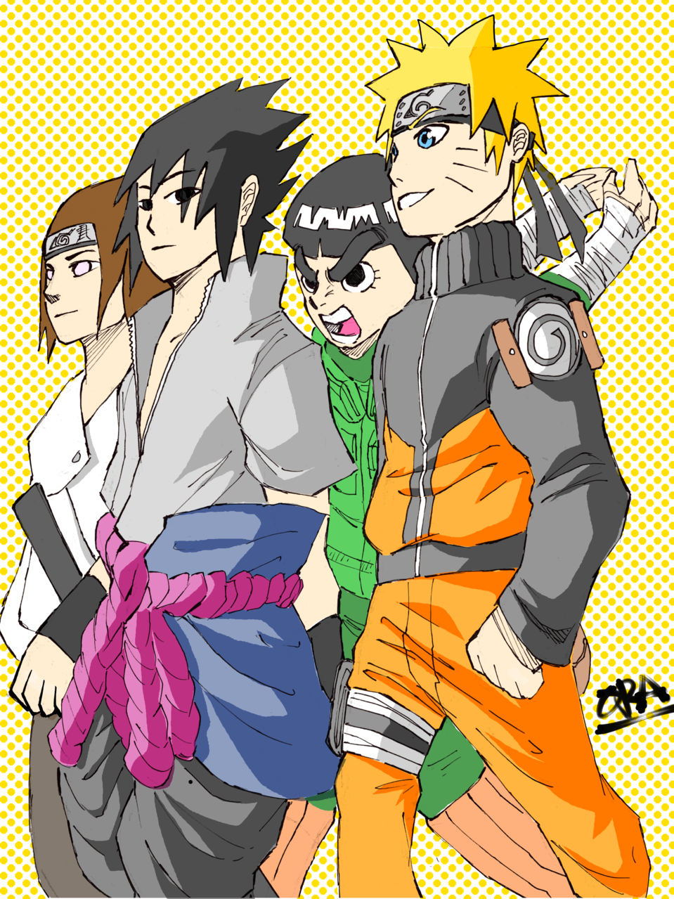Naruto Chilling with his friends Illust of That One Panda tracedrawing4th Trace&Draw【Official】 medibangpaint anime NARUTO