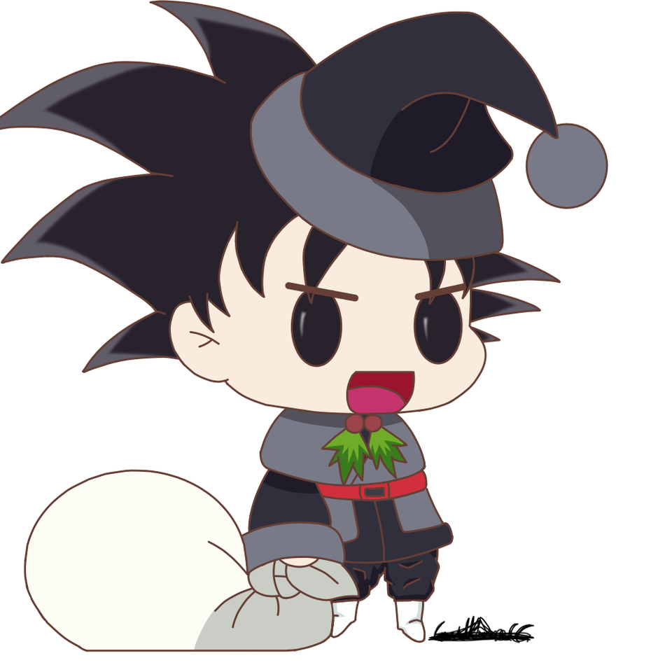 Goku Black Padoru uwu Illust of nagu