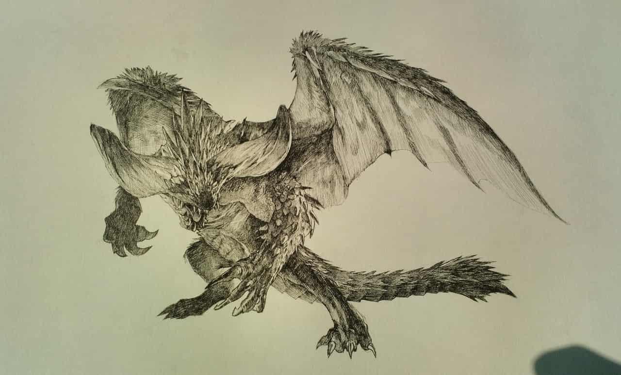 灭尽龙 Illust of Umekawa handdrawn アナログ 怪物猎人 dragon