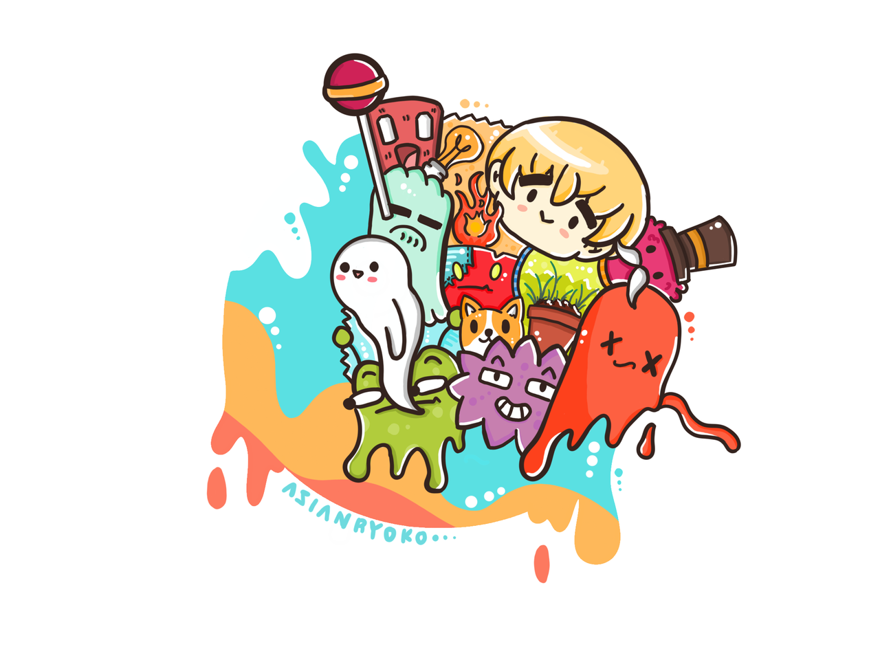 Doodle Art Illust of AsianRyoko kawaii doodle oc