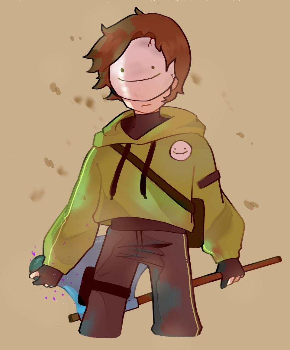 Dream Illust of Demon KID medibangpaint fanart dreamwastaken Dream boy Minecraft DreamSMP mcyt green