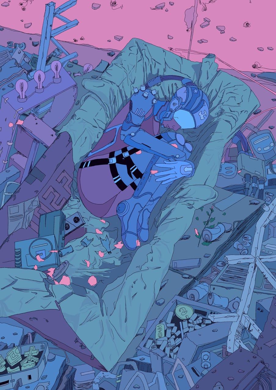 机械姬2 Illust of MOMO November2020_Contest:Cyberpunk